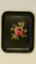 "E.T. Nash Co Handpainted Tole Serving Tray - 13-1/4"" x 10-1/2"" x 1"""