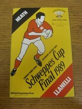 06/05/1989 Rugby Union Programme: Welsh Cup Final, Neath v Llanelli [At Cardiff