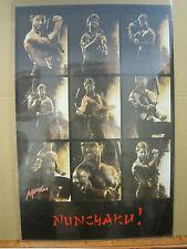 Vintage Martial Arts  NUNCHAKU! Nunchuck  Karate poster 1987 3318