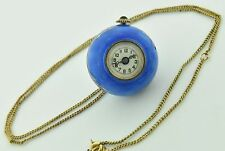 Antique Beacon Watch Co. Swiss 17 Jewel Guilloche on Sterling Ball Pendant Watch