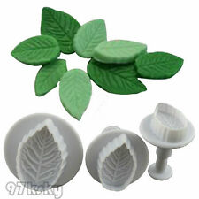 3X Cake Xmas Leaf Plunger Fondant Decor Sugarcraft Mold Cutter Tools SKY