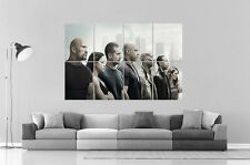Fast And Furious 7 All CHARACTERS Wall Poster Grand format A0  Print