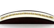"""Sterling Silver .925 Gold Overlay  XOXO Hugs & Kisses 7.5"""" Bracelet 13.2g #4632"""