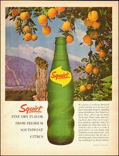 1963-Squirt, citrus soda bottle`Oranges Mountains-Vintage Ad