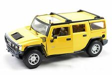 Maisto Hummer H2 Yellow 4 Door Black Grill Scale 1/27