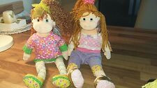 TY BEANIE BOPPERS  HUGGABLE HOLLY & ROCKIN' ROSIE WITH TAGS 34 CM