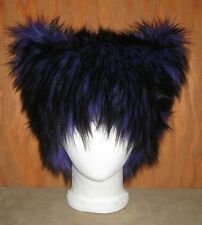 CHESHIRE PURPLE BLACK KITTY CAT FUR EAR HAT ALICE WONDERLAND ANIME COSPLAY