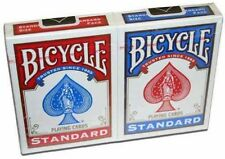 Two (2) Sealed Decks of BICYCLE Standard Face Playing Cards - 1 Blue, 1 Red