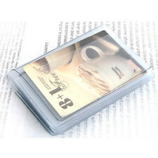 Plastic Wallet Insert Credit Card Holder 10 page 20 slots Replacement Bifold New