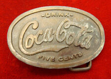 Vintage Drink Coca-Cola Five Cent Belt Buckle