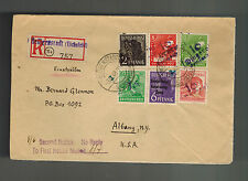 1948 Heiligenstadt East Germany DDR Cover to USA Revalued Mark
