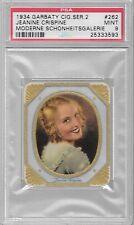 Jeanine Crispine 1934 Garbaty Moderne Schonheitsgalerie #262 PSA 9  $29