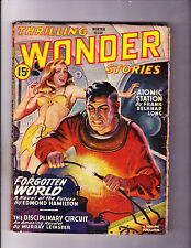 "Thrilling Wonder Stories -Winter 1946 -""Connecting Live Wires Cover!"""