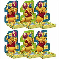 NEW 6 WINNIE THE POOH POOH'S FIRST BIRTHDAY CUPCAKE HOLDERS  PARTY SUPPLIES