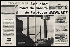 Publicité Autocar BERLIET Autobus Bus car vintage ad article (4 pages) 1961 - 2i