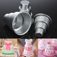 DIY Mini 3-Tier Cupcake Pudding Chocolate Cake Mold Baking Pan Mould Party GH