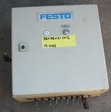 Festo Pneumatic Control sequencing box  steel enclosure 50869 valve manifold