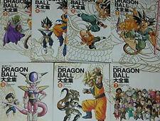 DRAGON BALL Complete Art Book #1~7 set book Hard cover