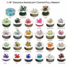 """1/8"""" 50 Yards Organza Iridescent Center with String Pull Ribbon Bow 28 Colors"""