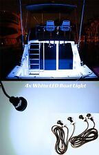 4x White LED Boat Light Waterproof 12v  Courtesy Bow Trailer Pontoon Ft