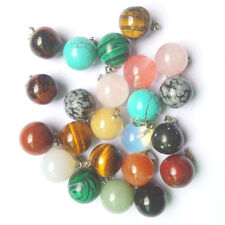 al por mayor Moda variado piedra natural 20pzas redondo forma de bola