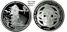 1 OZ SILVER COIN ENEMY UNKNOWN-FEDERAL RESERVE DEBT AND DEATH #RIM ORIGINAL SBSS