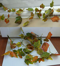 "Artificial Plants Hanging 4x100"" The Autumn Grape Leaf Vines"