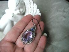 Vintage Alexandrite Earrings made with Swarovski Crystal Victorian Setting Sale