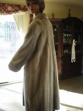 Sapphire grey, full length ranch mink coat, excellent condition
