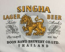Singha Lager Beer T Shirt Large Boon Rawd Brewery Thailand Made In Heaven