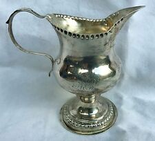 Antique William Needham Sterling Silver Creamer Milk Jug 1898 Sheffield 60 grams