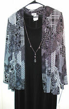 R & M Richards by Karen Kwong 2 pc Slinky Maxi Dress & Jacket Size 18W NWT