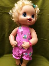 "Fits 15"" 16"" Baby Alive Doll Clothes Top Shirt Short Bloomers Diaper Cover Pink"