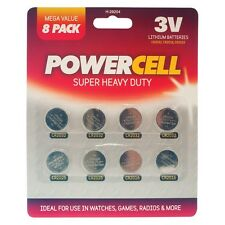 Powercell Super Hochbelastbar Batterien Knopfzelle - 8er Pack 3V Lithium