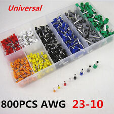 800pcs Car Wire Copper Crimp Connector Insulated Connector Crimp Terminal AWG