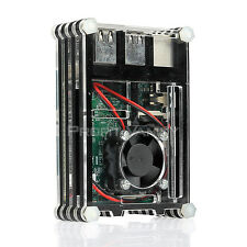 SainSmart Black Rainbow Case + Cooling Fan for Raspberry Pi 2 B Raspberry Pi 3