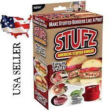 Stufz Stuffed Burger Press Hamburger Patty Maker  BBQ Grill -- 20% Off 2nd Item