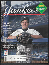 Jimmy Key 1993 New York Yankees Magazine with Spike Owen pullout poster