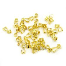 250pcs Latest Plated Gold Clasps Pinch Pendants Bails Jewelry Makings L