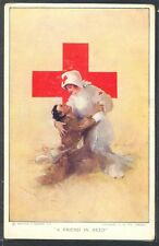 """NP115 a/s HURST INFIRMIERE CROIX ROUGE RED CROSS NURSE """"A FRIEND in NEED"""""""