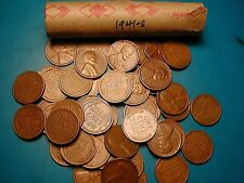 1941-S Lincoln Wheat Cent Penny Roll, nice condition