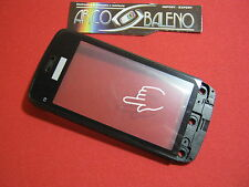Kit VETRO+TOUCH SCREEN per NOKIA C5-03 display Vetrino Nero+frame Cover NUOVO