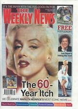 MARILYN MONROE PHOTO COVER WEEKLY NEWS - 29 AUGUST  2015 - BRAND NEW