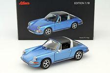 Porsche 911 S 2.4 Targa Baujahr 1973 blau 1:18 Schuco