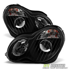 Black Fits 2001-2007 Mercedes Benz W203 C240 C320 Projector Headlights Headlamps