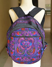 VINTAGE HILL TRIBE HMONG ETHNIC BACKPACK BAG EMBROIDERED HANDMADE  #23