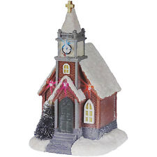 INDOOR BATTERY OPERATED COLOUR CHANGING LED CHURCH CHRISTMAS ORNAMENT DECORATION