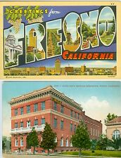 Fresno CA A Big Letter Greeting from Fresno and the Y.M.C.A.