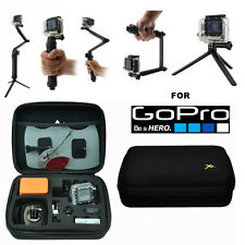 HARD CASE + MONOPOD SELFIE STICK TRIPOD FOR GOPRO HERO4 HERO3 HERO SESSION HERO5
