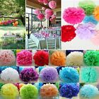 "6"" 8"" 10"" 12"" Colorful Tissue Paper Pom Poms Flower Balls Wedding Birthday Party"